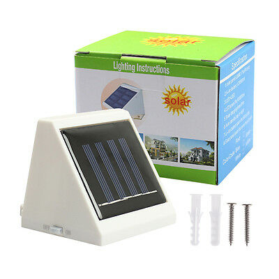 Practical 4 LED Solar Powered Stairs Fence Garden Security Lamp Waterproof Light