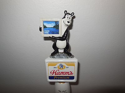 (L@@k) Hamms Beer Bear Tap Handle From The Land Sky Blue Waters Hamm's Bar Mib