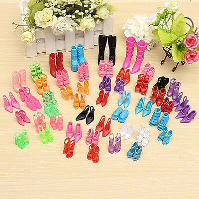 New 40Pairs Handmade Dress Party Gown Shoes for Barbie Doll Toy Accessories