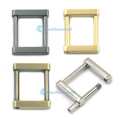 Metal 25mm Detachable Rectangle D Ring Bags Buckles Strap Leather Craft DIY