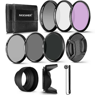 Neewer 52mm(UV+CPL+FLD)+(ND2+ND4+ND8) Kit de accesorios