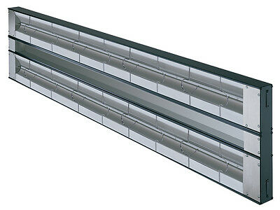 "Hatco GRAH-36D3-120-QS 36"" Aluminum Dual Strip Heater 1600 Watts w/ 3"" Spacer"