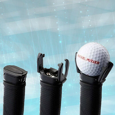 Black Golf Ball Pick Up Tool Back Saver Putter Pitch Grip Retriever Grabber SK