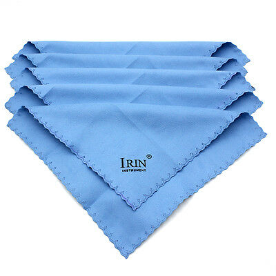 5Pcs Microfiber Polishing Cloth Towel For Guitar Violin Piano Trumpet Cleaning