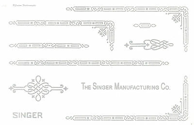 Singer Featherweight 221 Sewing Machine Restoration Decals Silver Metallic Ink