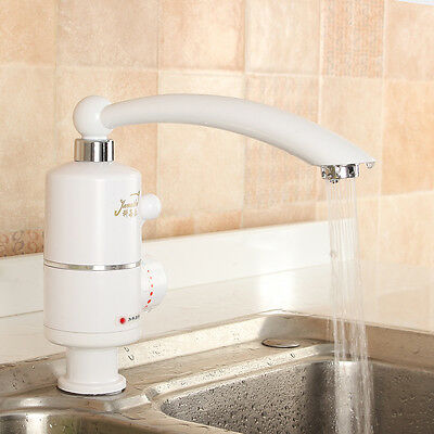 2000W 360° Rotatable 220V Instant Tankless Fast Electric Water Heater Faucet Tap