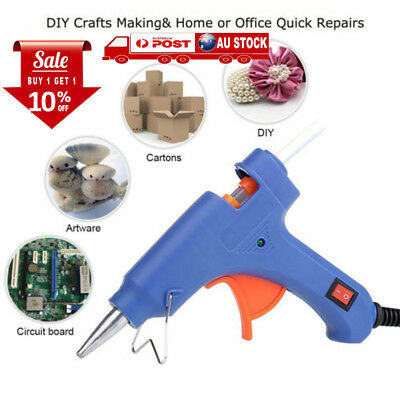 10pcs 20W Glue Gun Electric Heating Craft Hot Melt Glue Gun+10/50 Glue Sticks AU