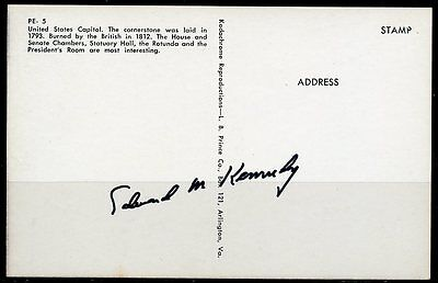 United States Capital Postcard Autographed Edward Kennedy