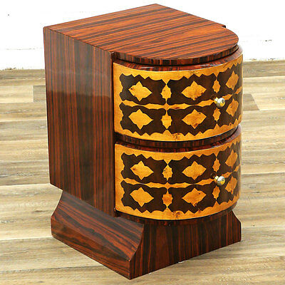 ART DECO NACHTTISCH KOMMODE 2-schübig RAUMLUXUS BEDROOM CHAMBRE NIGHTSTAND CHEST