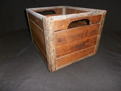 Biltmore Dairy Farms milk crate vintage wood and metal