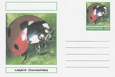 CINDERELLA 4705 - INSECTS - LADYBIRD  on Fantasy Postal Stationery card