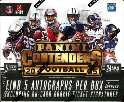 2015 Panini Contenders Football Hobby Box Blowout Cards