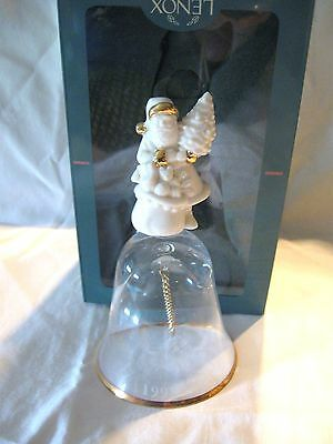 Lenox 1997 Santa Claus Annual China Crystal Gold Bell NIB $62 Made USA