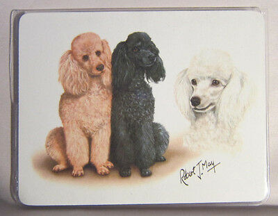 Retired POODLE TRIO Softcover Address Book art by Robert May
