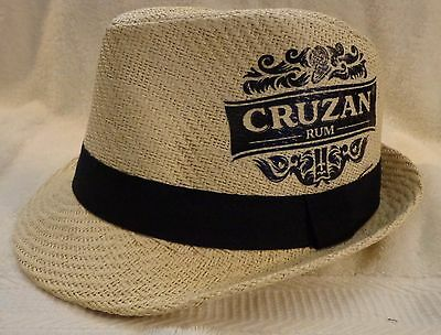 Cruzan Rum 100% Papyrus Hat One Size  NWOT