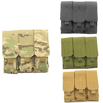 Triple MOLLE Pistol Mag Magazine Pouch Holster 9mm Nylon Bag Pouches Hot Sale