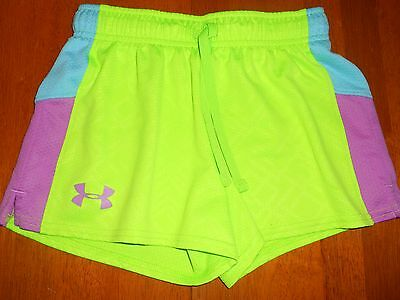 Under Armour girls shorts size Y M youth medium MINT cond athletic