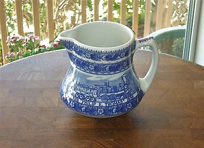 Vintage Shenango China Baltimore & Ohio Railroad Blue Creamer New Castle Pa 4""