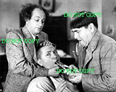THREE STOOGES - 8x10 Photo - 3 STOOGES - PULLING TOOTH