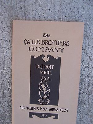 Caille Brothers Coin Controlled Machine Catalog 311 Slot Machines Illustrated  R