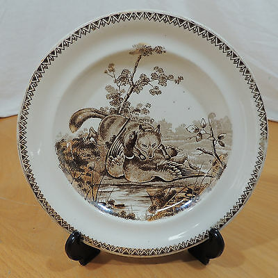HUNTING SCENE by J. F. Wileman Foley Potteries Fox & Duck Plate