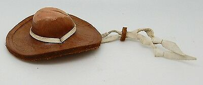 Vintage 1940s Leather Western Cowboy Hat Equestrian Bandana / Neckerchief Slide