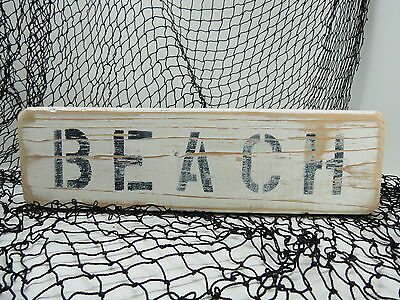 12 Inch Wood Hand Painted Beach Sign Nautical Seafood (#s754)
