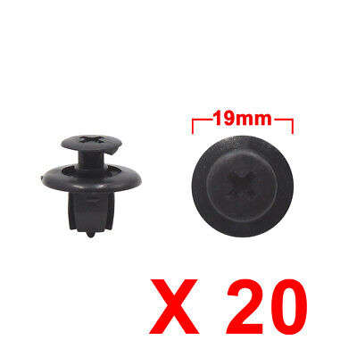 20Pcs Black Plastic Rivets Trunk Fender Bumper Push Type Fasteners Clip 9 x 9mm