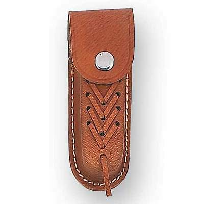 Leather Knife Pouch That Fits 113 mm - 125 mm knives Clip style closure NEW