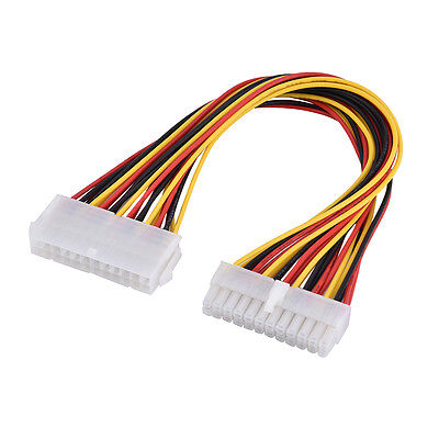 1x24Pin Power Supply Extension Cable ATX PC PSU Male to Female Port Extender