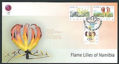 Namibia - FDC Flammenlilie - Lilien - Flame Lilies  2017