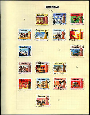 Zimbabwe Album Page Of Stamps #V5369