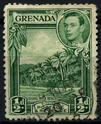 Grenada 1938-50 SG#153a, 1/2d Blue-Green KGVI P12.5 Used #D52190