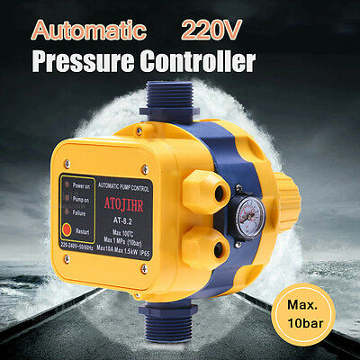 220V Automatic Booster Water Pump Pressure Controller Adjustable Control Switch