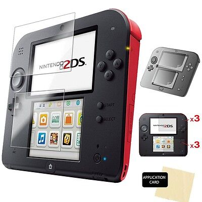 6pcs Clear LCD Screen Protector Guards Film with Cloth for NINTENDO 2DS Console