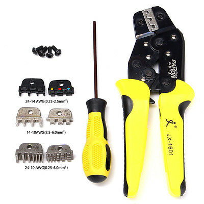 JX-D4 4 In 1 Wire Crimpers Engineering Ratcheting Terminal Crimping Pliers Tool