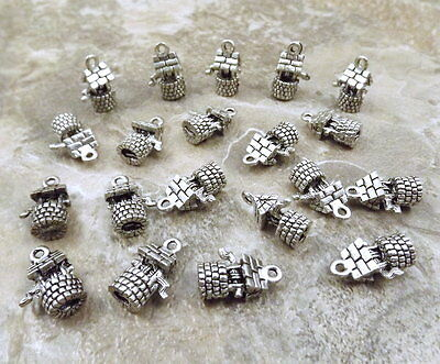 20 Pewter WISHING WELL Charms  - 5299