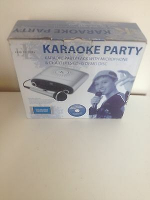Easy Karaoke Party Pack Machine with Mic & CD+G Demo Disc -