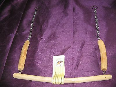 Natural Northumbrian Handmade Driftwood Swing For Parrots Etc *reduced Reduced*