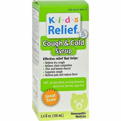Homeolab USA Kids Relief Cough and Cold For Kids 2+ Fruit - 3.4 fl oz-0203869