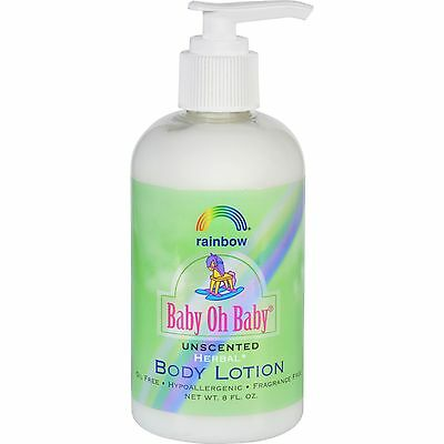 Rainbow Research Body Lotion - Organic Herbal - Baby - Unscented - 8 fl oz-09415