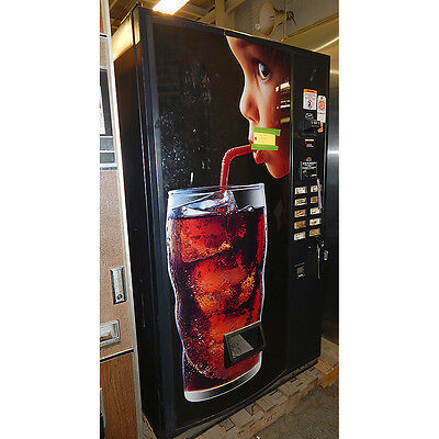 USI 3037-10B Cold Drink Vending Machine 10 Can Selection 12 oz. Can Soda Pop