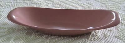 Boonton Ware Melmac Coral Bread Tray or Shallow Serving Bowl #609
