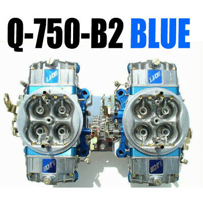 Quick Fuel Q-750-B2 Cfm Gas Supercharger Blower Carbs Blue In Stock Look