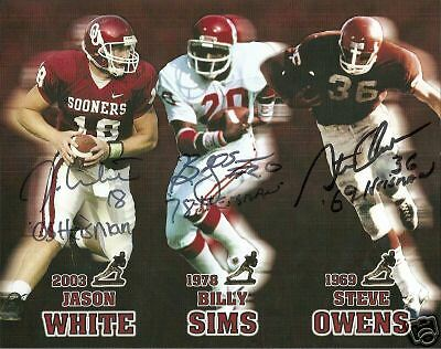 Ou Oklahoma Sooners Heisman Signed 8X10 Photo