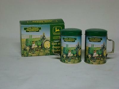 John Deere Salt and Pepper Shakers Unused in Original Box