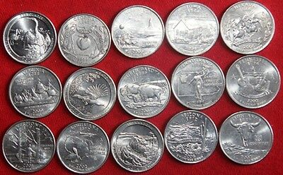 USA - 25 x Coin mix (Various states - All Different))