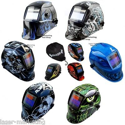 Auto Darkening Solar Powered Welders Welding Helmet Welding Mask - Bag Available