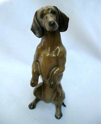 Vintage Rosenthal Germany Porcelain Begging Dachshund Dog Puppy Figurine #275