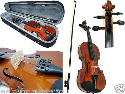 """VALENCIA 14"""" VIOLA Solid Carved Top & Back *Includes Case, Bow, Rosin* NEW!"""